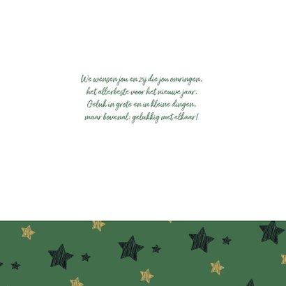 Kerstknuffel - groen met sterren 2