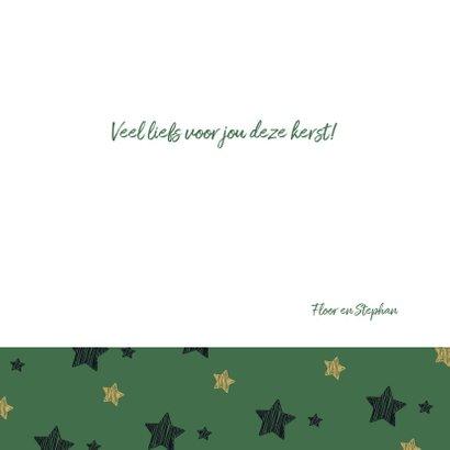 Kerstknuffel - groen met sterren 3