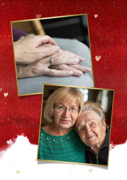 Kerstknuffel kerstkaart hart voor Corona ziekte of verdriet 2