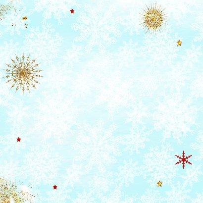 Kerstlama met muts Achterkant