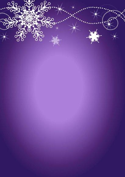 Kerstmenu paars design 2
