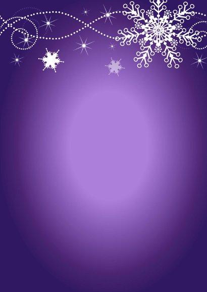 Kerstmenu paars design 3