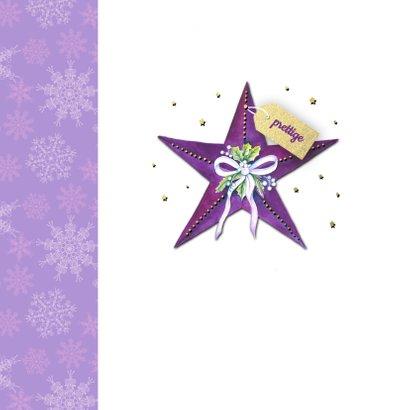 Kerstster paars label 2