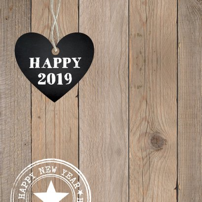 Kerstverhuiskaart hout hartje typografie 2