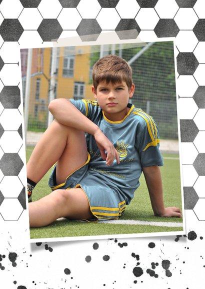Kinderfeest uitnodiging voetbal met eigen foto 2