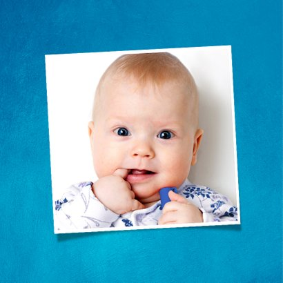 Kinderfeestje 1 jaar uitnodiging hip met confetti en foto 2