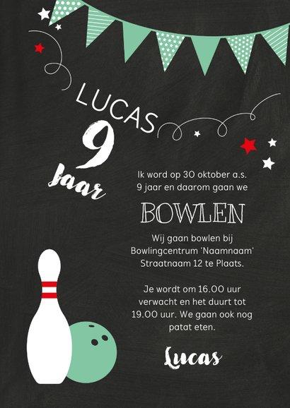Kinderfeestje bowlen groene bal 3
