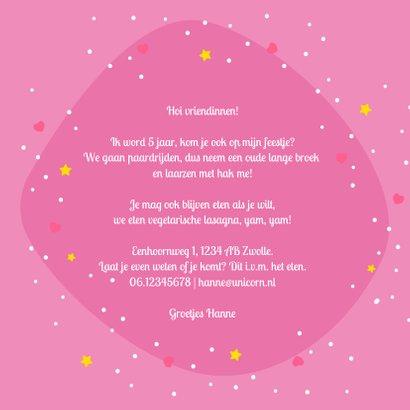 Kinderfeestje eenhoorn uitnodiging  3
