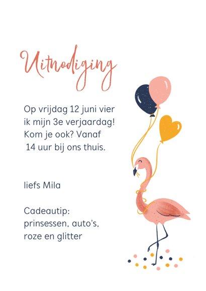 Kinderfeestje flamingo met ballonnen 3