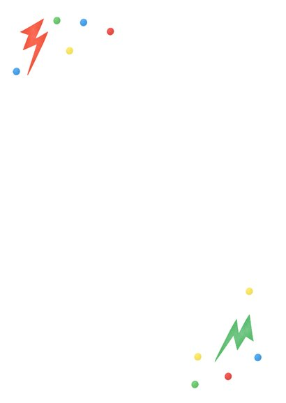 Kinderfeestje gamen controller bliksem confetti foto Achterkant