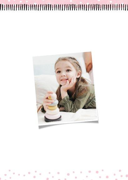 Kinderfeestje hip met foto en confetti aanpasbaar 2