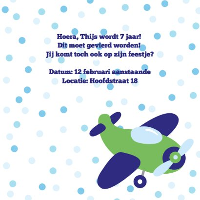 Kinderfeestje jongen vliegtuig foto 3