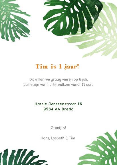Kinderfeestje jungle uitnodiging 3
