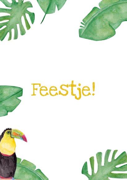 Kinderfeestje kaart met toekans voor jungle thema feest! 2