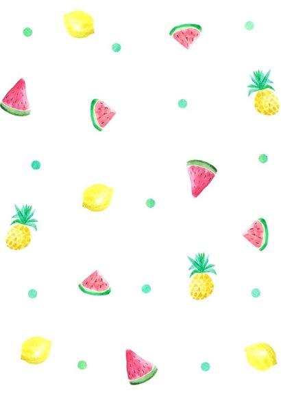 Kinderfeestje kaartje zomerfruit 2