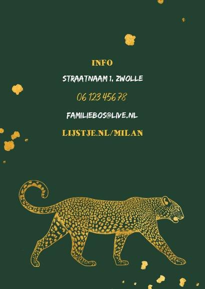Kinderfeestje leopard goudlook met foto en spetters 2