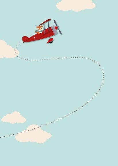 Kinderfeestje met vosje in vliegtuig en foto 2