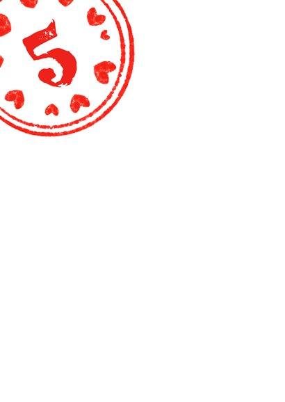 Kinderfeestje stempel rood 2