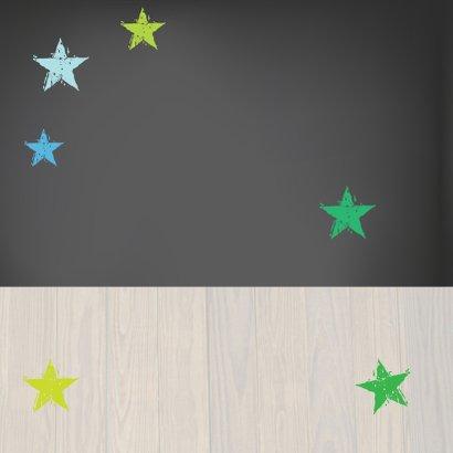 Kinderfeestje Stoere Krijtbordkaart 2