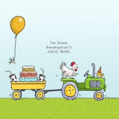 Kinderfeestje tractor met aanhanger jongen 2