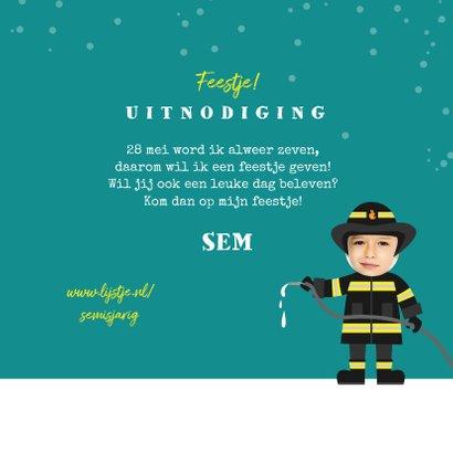 Kinderfeestje uitnodiging brandweer brandweerman foto 3
