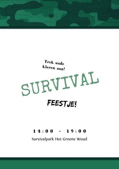 Kinderfeestje uitnodiging jongen leger survival jungle  2