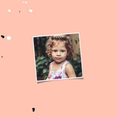 Kinderfeestje uitnodiging met vlinder, spetters en foto 2