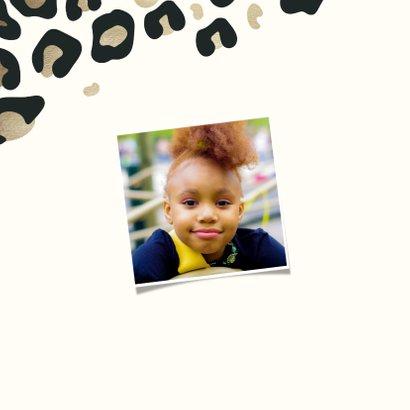 Kinderfeestje uitnodiging panterprint goudlook 2