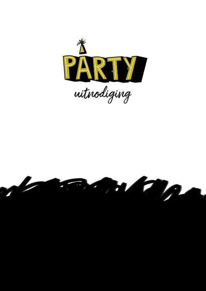 Kinderfeestje uitnodiging stoer graffiti party 2