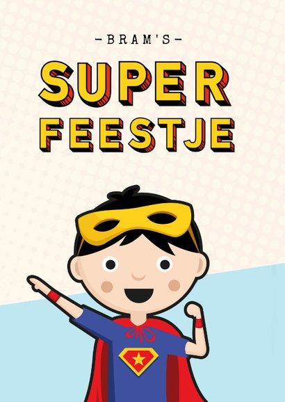 Kinderfeestje uitnodiging superhelden feestje jongen 2