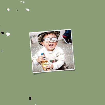 Kinderfeestje uitnodiging voetbal met foto en spetters 2