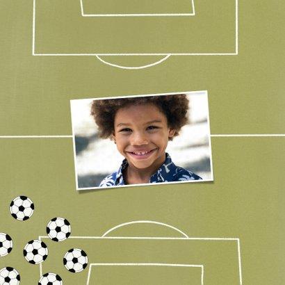 Kinderfeestje uitnodiging voetballen en foto 2
