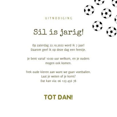 Kinderfeestje uitnodiging voetballen en foto 3