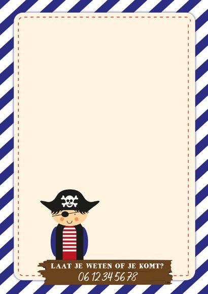 Kinderfeestje uitnodiging voor een piratenfeest 2