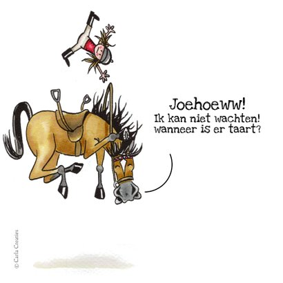 Kinderfeestje uitnodigingen paardenfeestje 2