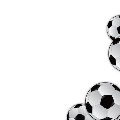 Kinderfeestje voetbal gras eigen foto naam 3