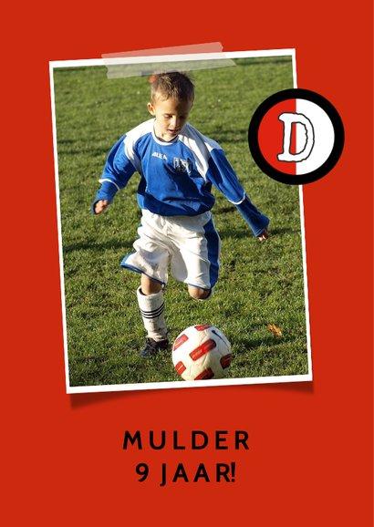 Kinderfeestje voetbalshirt rood wit zwart 2