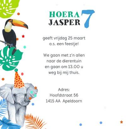 Kinderfeestje wilde dieren tropisch 2