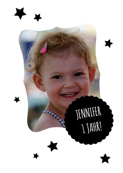 Kindergeburtstag Einladung 12 Monate Fotocollage 2