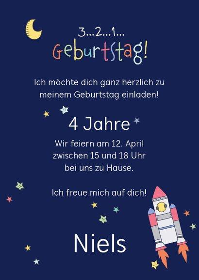 Kindergeburtstag Einladung Astronaut im Weltall 3
