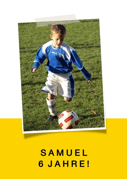 Kindergeburtstag Einladung Fußball Trikot Foto innen 2