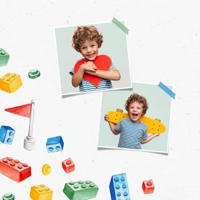 Kindergeburtstag Einladung Zwillinge Lego Party mit Foto 2