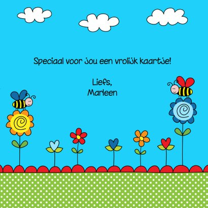 Kinderkaart bijtjes blauw 3