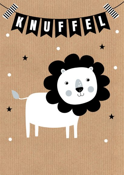 Kinderkaart leeuw slinger kraft 2