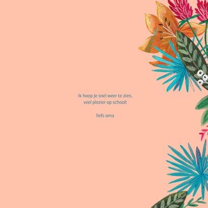 Kinderkaart met bloemen en zebra 3