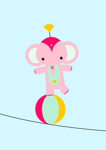 Kinderkaart - Olifantje koorddansen 2