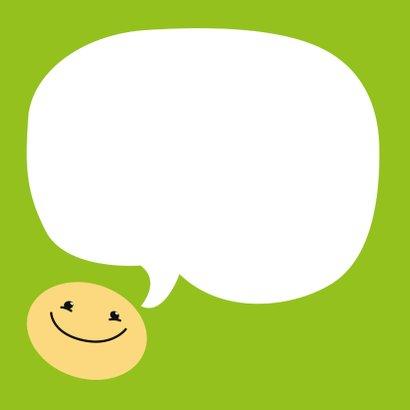 Kinderkaart schooldag smiley 3