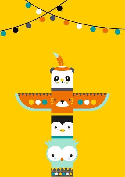 Kinderkaart - Totempaal van dieren 2