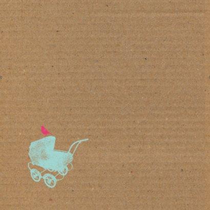 Kinderwagen, karton achtergrond 2
