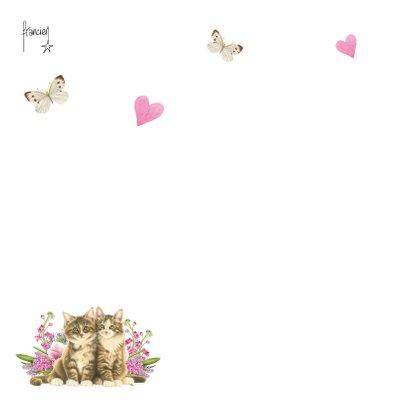 Kittens en bloemen dikke knuffel voor opa en oma 2